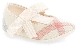 Burberry Infant Girl's Stark Mary Jane Crib Shoe