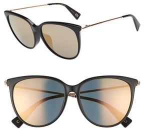Marc Jacobs Women's 56Mm Cat Eye Sunglasses - Black