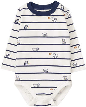 Gymboree White Puppy Stripe Bodysuit - Infant