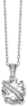 Giani Bernini Cubic Zirconia Wrapped Pendant 18 Necklace in Sterling Silver, Created for Macy's