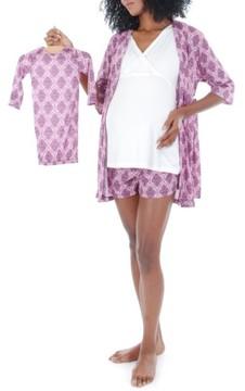 Everly Grey Women's 'Daphne - During & After' 5-Piece Maternity Sleepwear Set