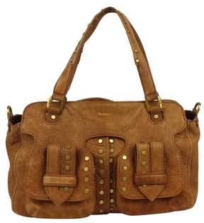 Botkier Camel Studded Grainy Leather Bag