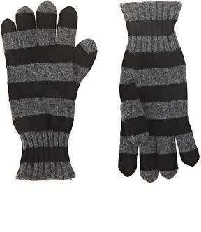Barneys New York Women's Striped Cashmere Gloves