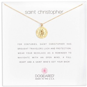 Dogeared Women's St. Christopher Pendant Necklace