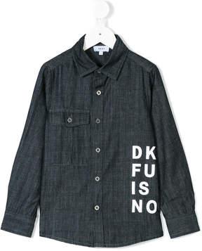 DKNY chambray logo print shirt