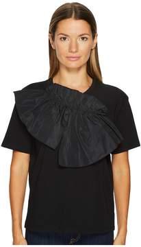Jil Sander Navy Jersey Tee with Bow Detail Women's T Shirt