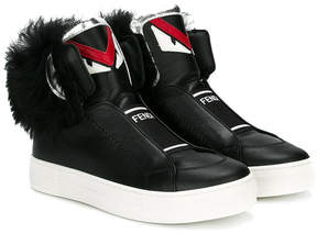 Fendi fluffy face hi tops