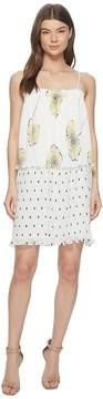 1 STATE 1.STATE Mixed Print Pleated Slip Dress Women's Dress