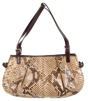 Dolce & Gabbana Snakeskin & Leather Bag - BROWN - STYLE