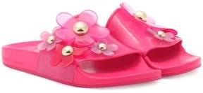 Marc Jacobs Embellished jelly slides