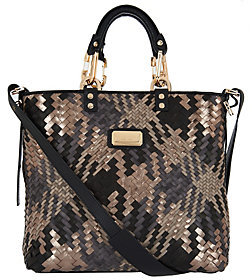 Plinio Visona PLINIO VISONA' As Is Intreccio Italian Leather Woven Shopper