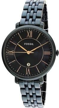 Fossil Women's Jacqueline ES4094 Black Stainless-Steel Quartz Fashion Watch