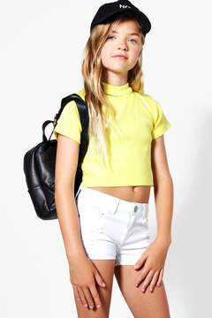 boohoo Girls Rib Choker Detail Crop Top