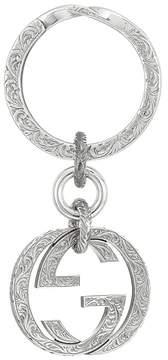 Gucci Interlocking Key Ring Wallet - SILVER - STYLE