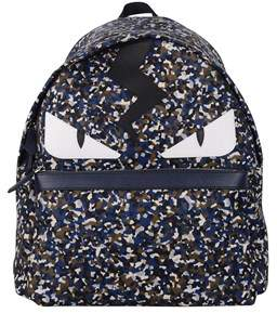 Fendi Men's Blue Polyamide Backpack.