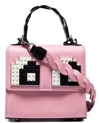 Les Petits Joueurs Women's Pink Leather Handbag.