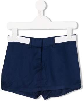 DKNY back logo print denim shorts