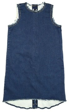 Tractr Girl's Lace-Up Denim Dress