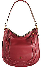As Is orYANY Pebble Leather Hobo w/ Braiding Detail - Madelyn