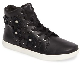 UGG Girl's Schyler Petal Embellished High Top Sneaker