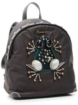 Braccialini Keira Embellished Frog Backpack