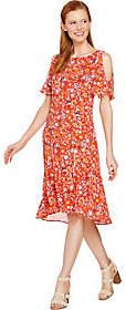 C. Wonder Nantucket Floral Print Cold ShoulderWoven Dress