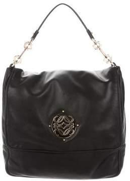 Loewe Karung-Trimmed Flap Bag