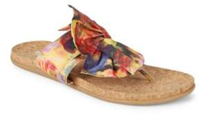 Kenneth Cole Reaction Slim Gal Printed Bow Sandals