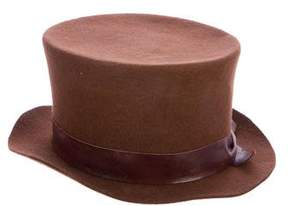 Brunello Cucinelli Felt Leather-Trimmed Hat