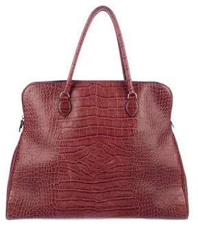 Alaia Embossed Leather Oversize Tote