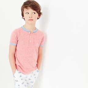J.Crew Boys' short-sleeve ringer henley shirt