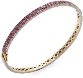 Artisan Women's Oval shape Ruby Openable Bangle
