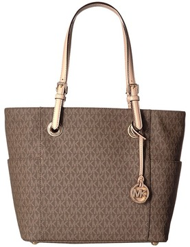 MICHAEL Michael Kors Jet Set Item East/West Signature Tote Tote Handbags - MOCHA - STYLE