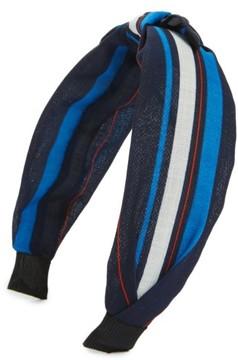 Cara Regatta Stripe Knot Headband