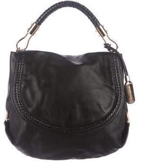 Michael Kors Skorpios Leather Flap Bag - BLACK - STYLE
