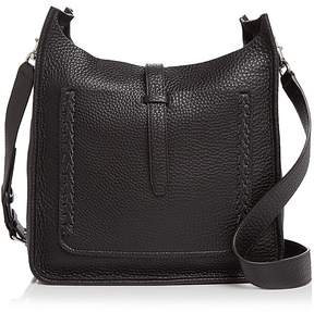 Rebecca Minkoff Unlined Whipstitch Feed Pebbled Leather Crossbody - ALMOND/GOLD - STYLE