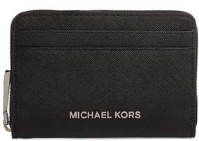 Michael Kors Black Money Pieces Saffiano Leather Card Holder - BLACK - STYLE