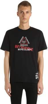 Billionaire Boys Club Warning Printed Cotton Jersey T-Shirt