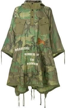 MHI oversized camouflage raincoat