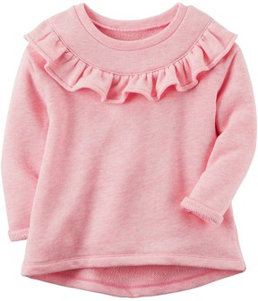 Carter's Baby Girl Ruffled French Terry Sweater