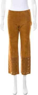 Celine Suede Mid-Rise Pants