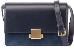 Saint Laurent Bellechasse Medium Leather/Suede Satchel Bag - ASPHALT - STYLE