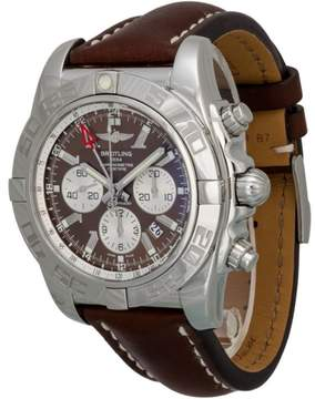 Breitling Chronomat GMT Stainless Steel & Leather 47mm Watch