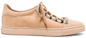 Toga Pulla Studded Suede Sneakers in Neutrals.