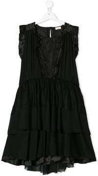Elisabetta Franchi La Mia Bambina TEEN lace insert dress