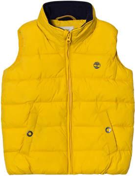 Timberland Kids Yellow Puffer Hooded Gilet