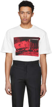 Calvin Klein Off-White Printed T-Shirt