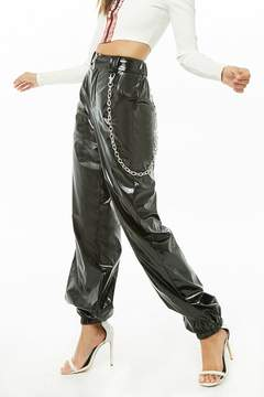 Forever 21 Wallet Chain Vinyl Joggers