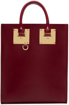 Sophie Hulme Red Mini Albion Tote
