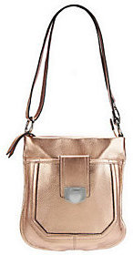 B. Makowsky Glove Leather Zip Top Convertible Crossbody Bag